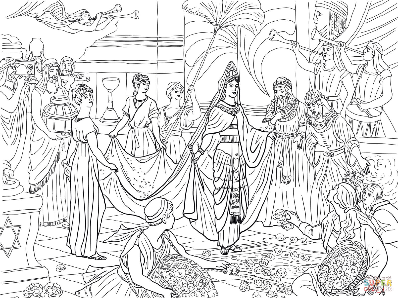 Coloring pages queen elizabeth 1 - Coloring Pages Queen Elizabeth 1 The Arrival Of The Queen Of Sheba Download