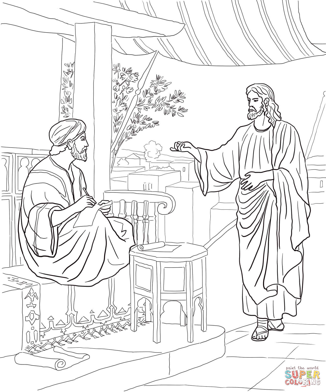 matthew 9 coloring pages