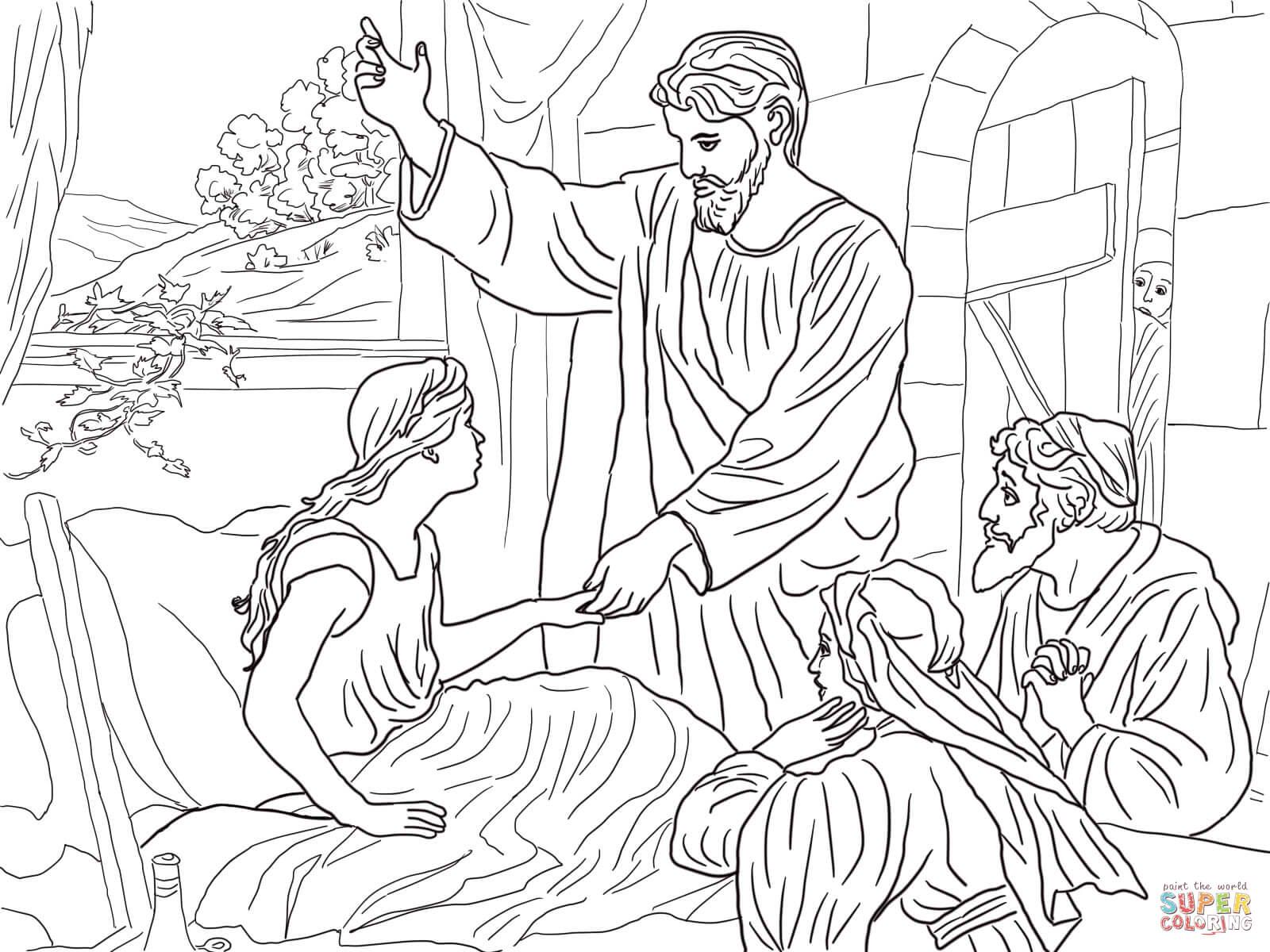 Jesus Heals Coloring Page - Democraciaejustica