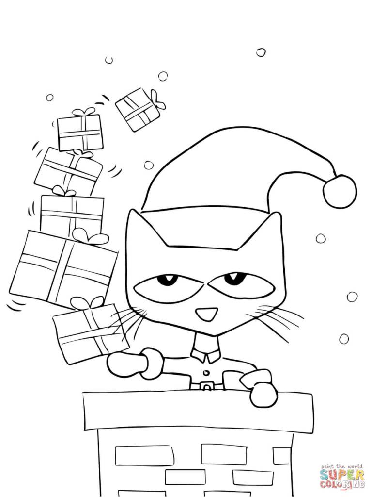 Permalink to pete the cat coloring page