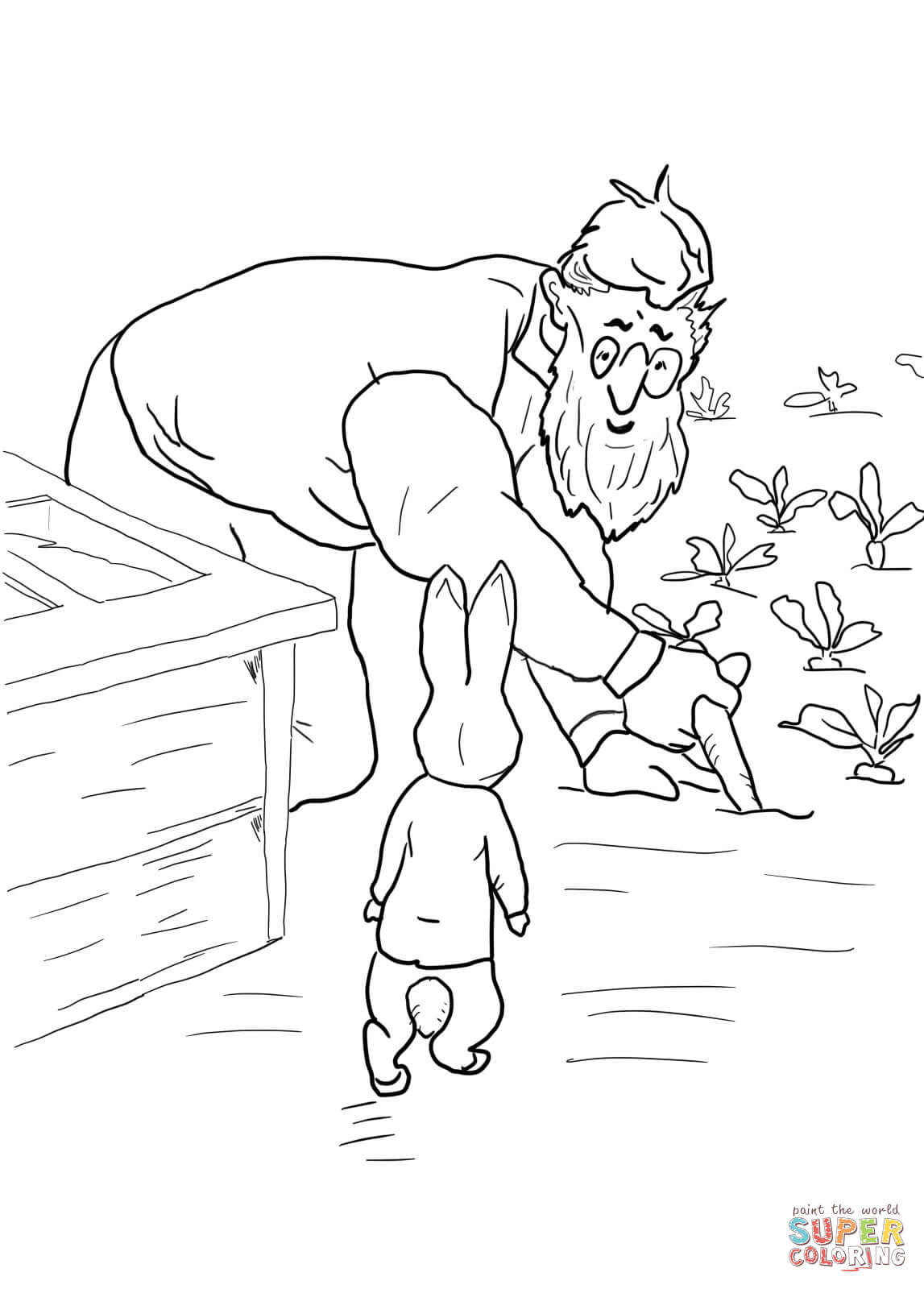 pics photos peter rabbit coloring pages 005