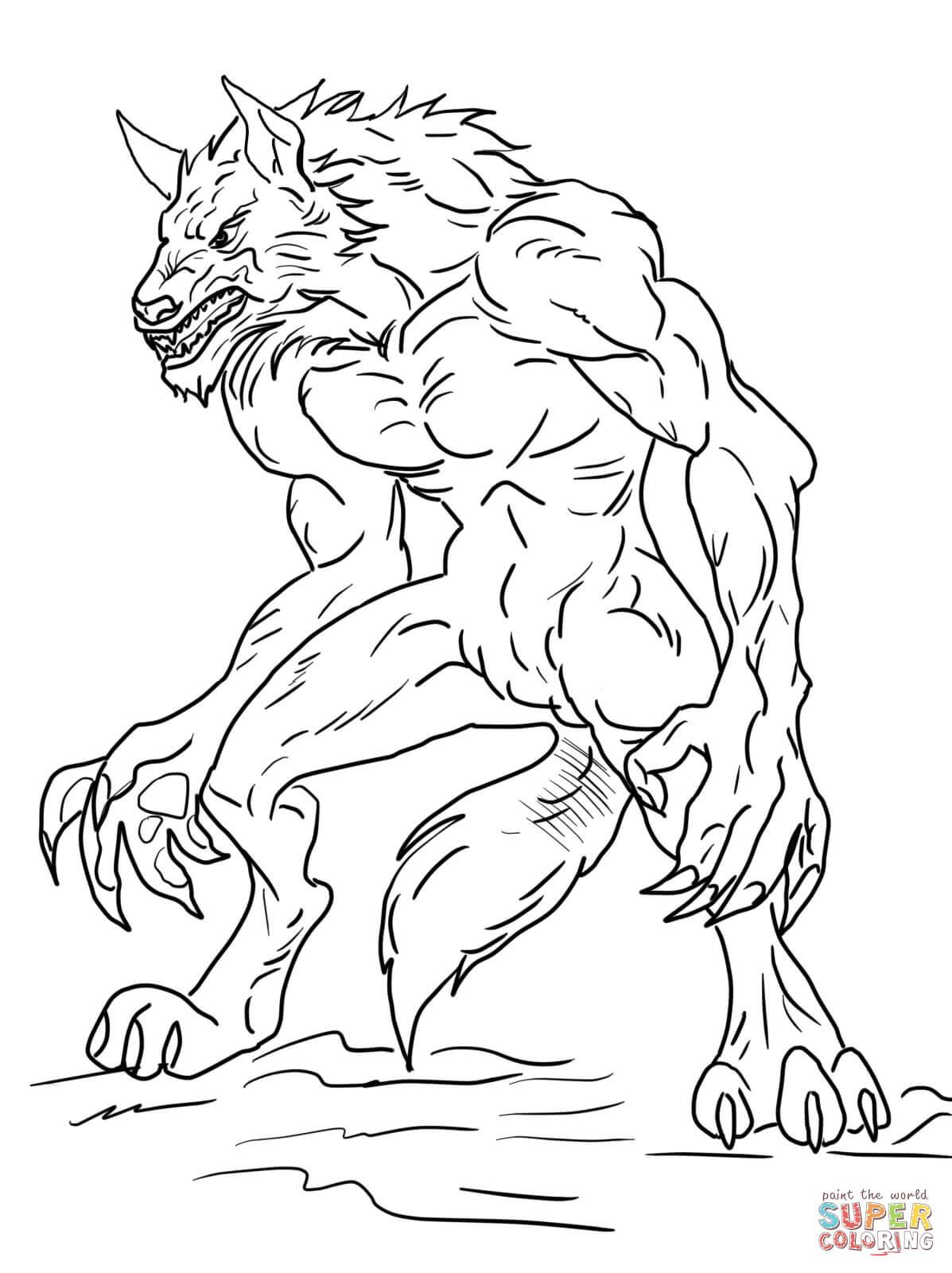 Werewolf Coloring Pages - Eskayalitim