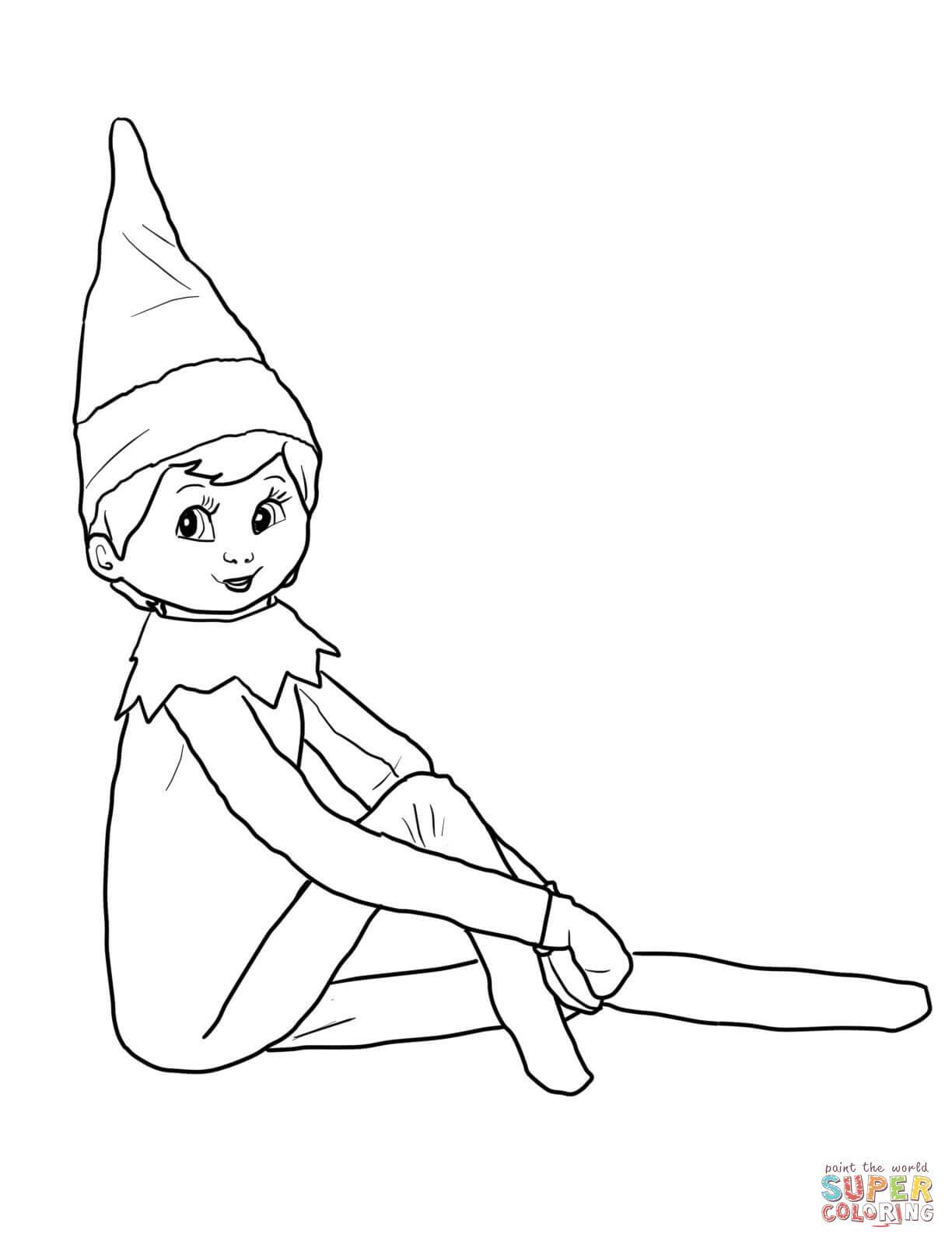 Click the elf on the shelf coloring pages to view printable