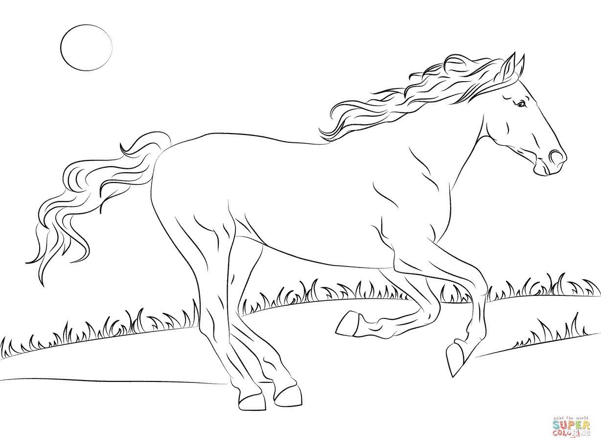 coloring pages horses beautiful mustang horse download