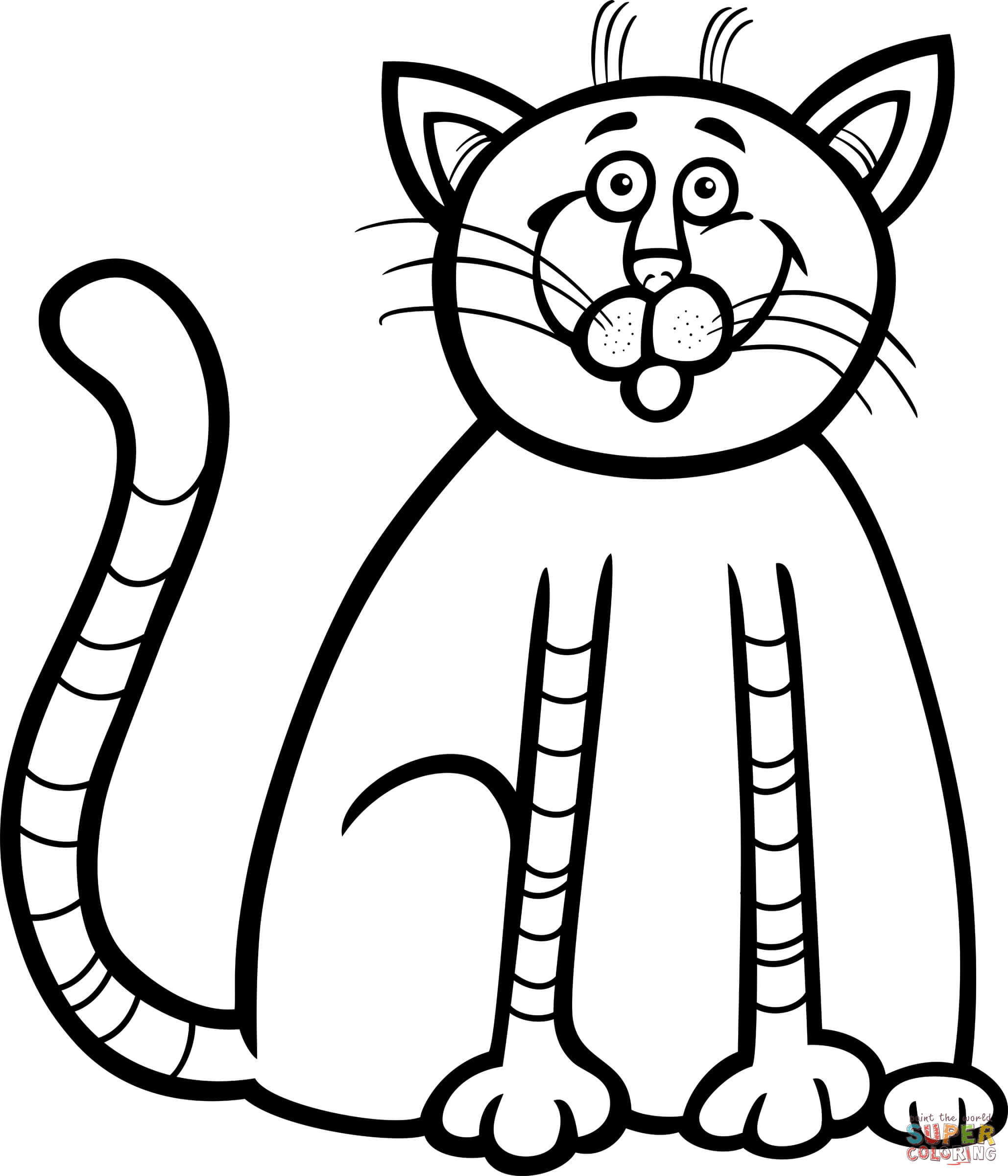 a kitten after a good breakfast download cute kitten colouring pages to print - Coloring Pages Kittens Print