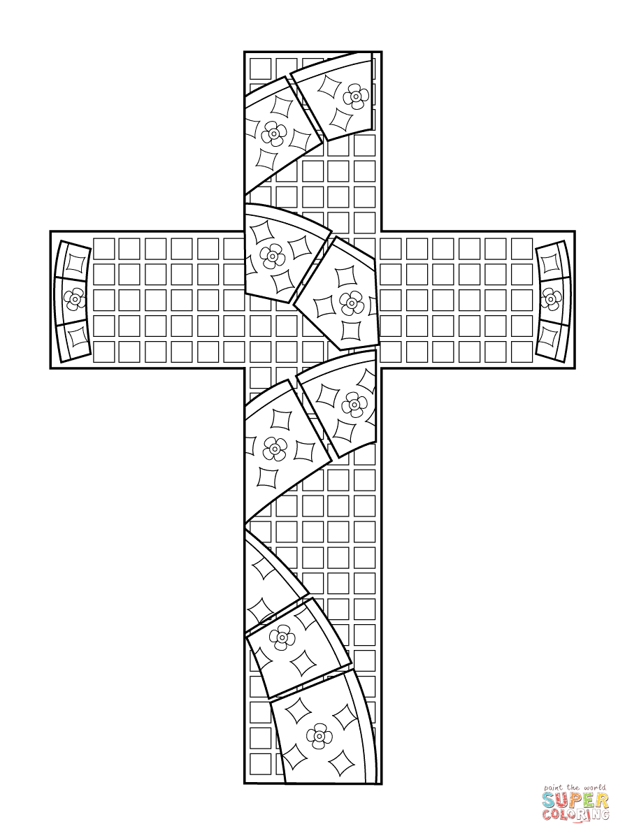 coloring pages cross