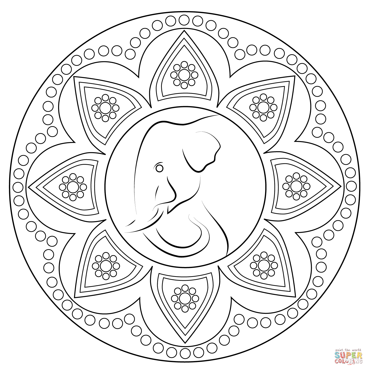 coloring pages indian