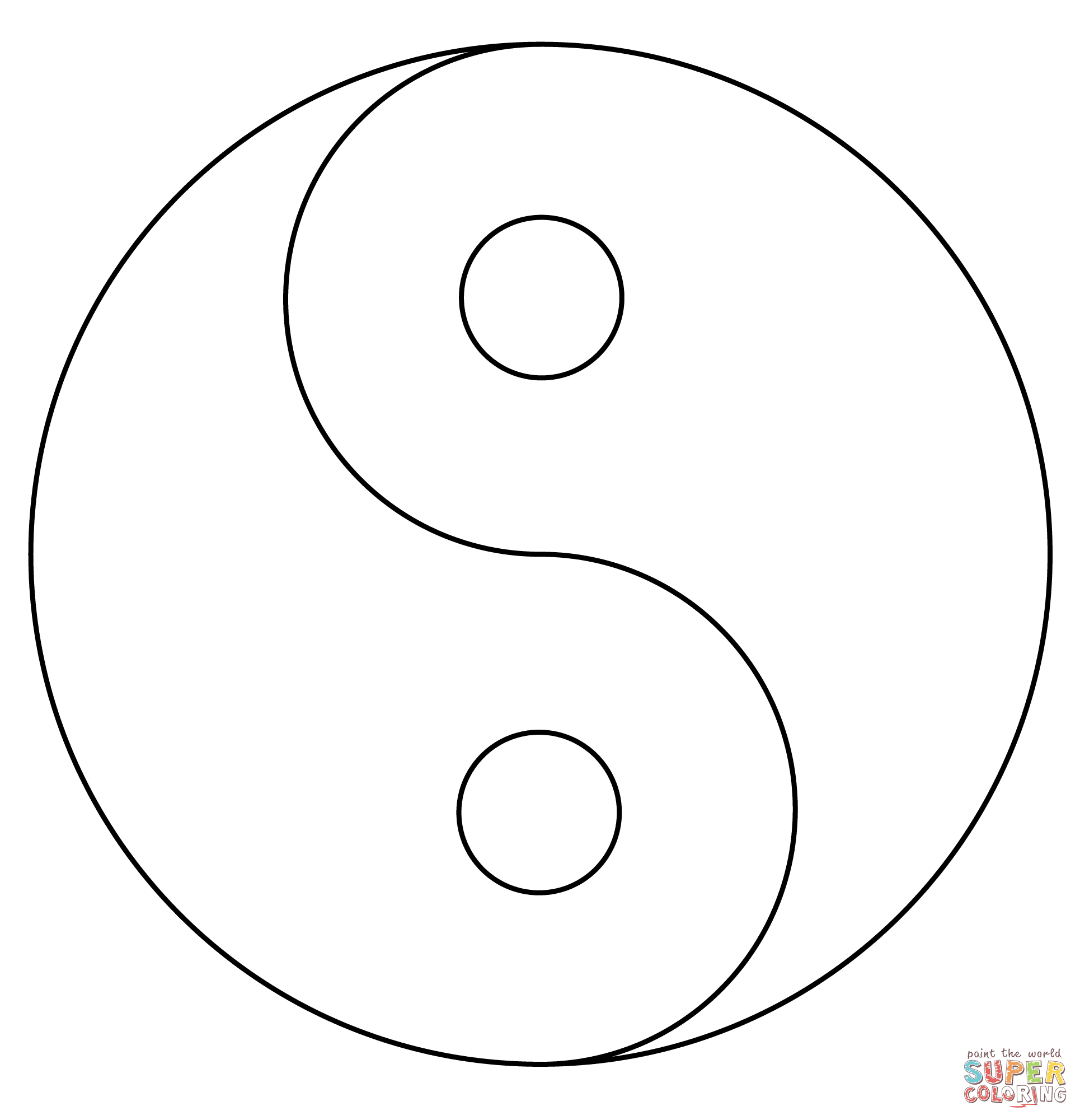 Click the yin yang coloring pages to view printable version or color it online compatible with ipad and android tablets