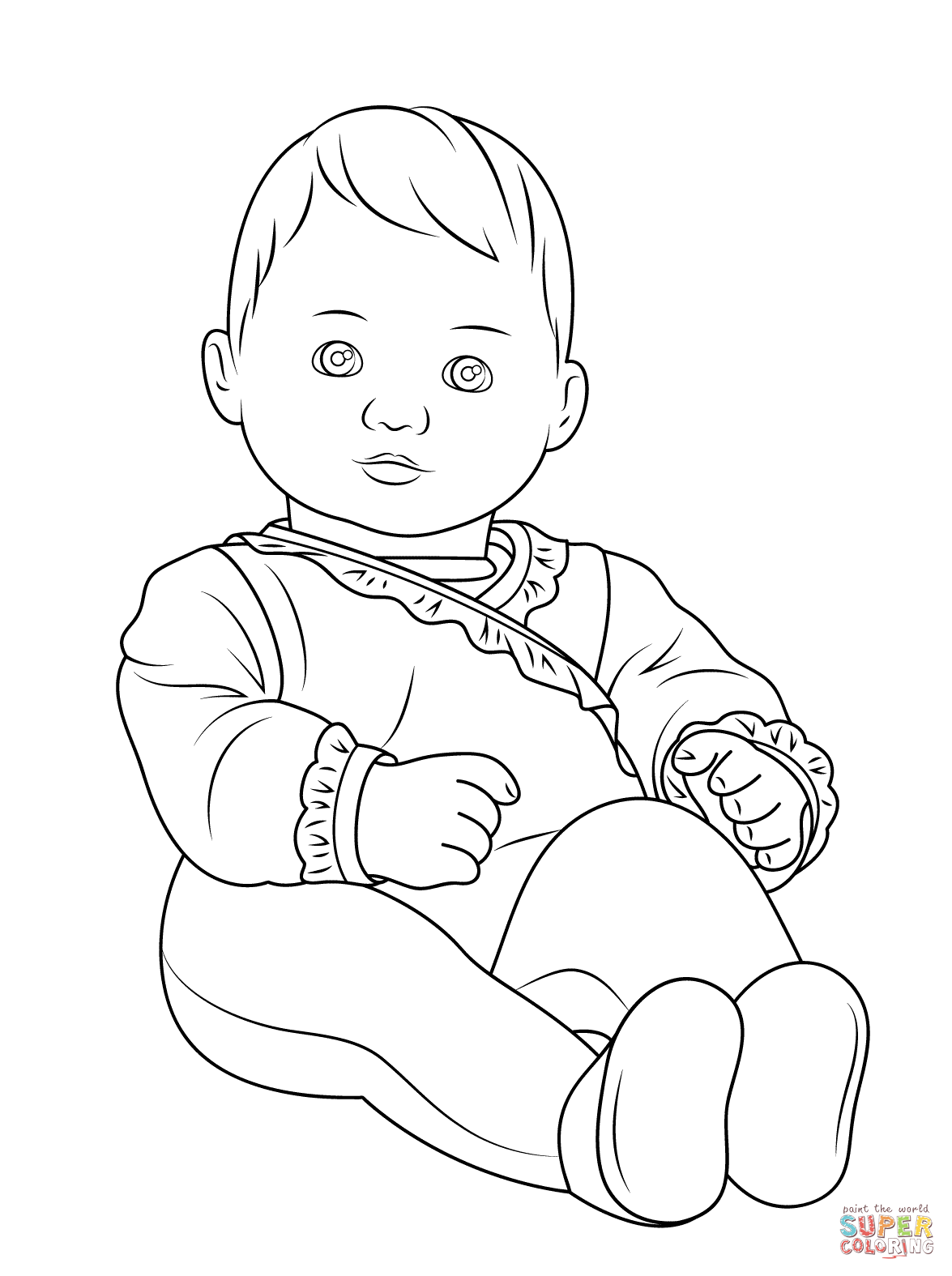 Click the american girl bitty baby coloring pages