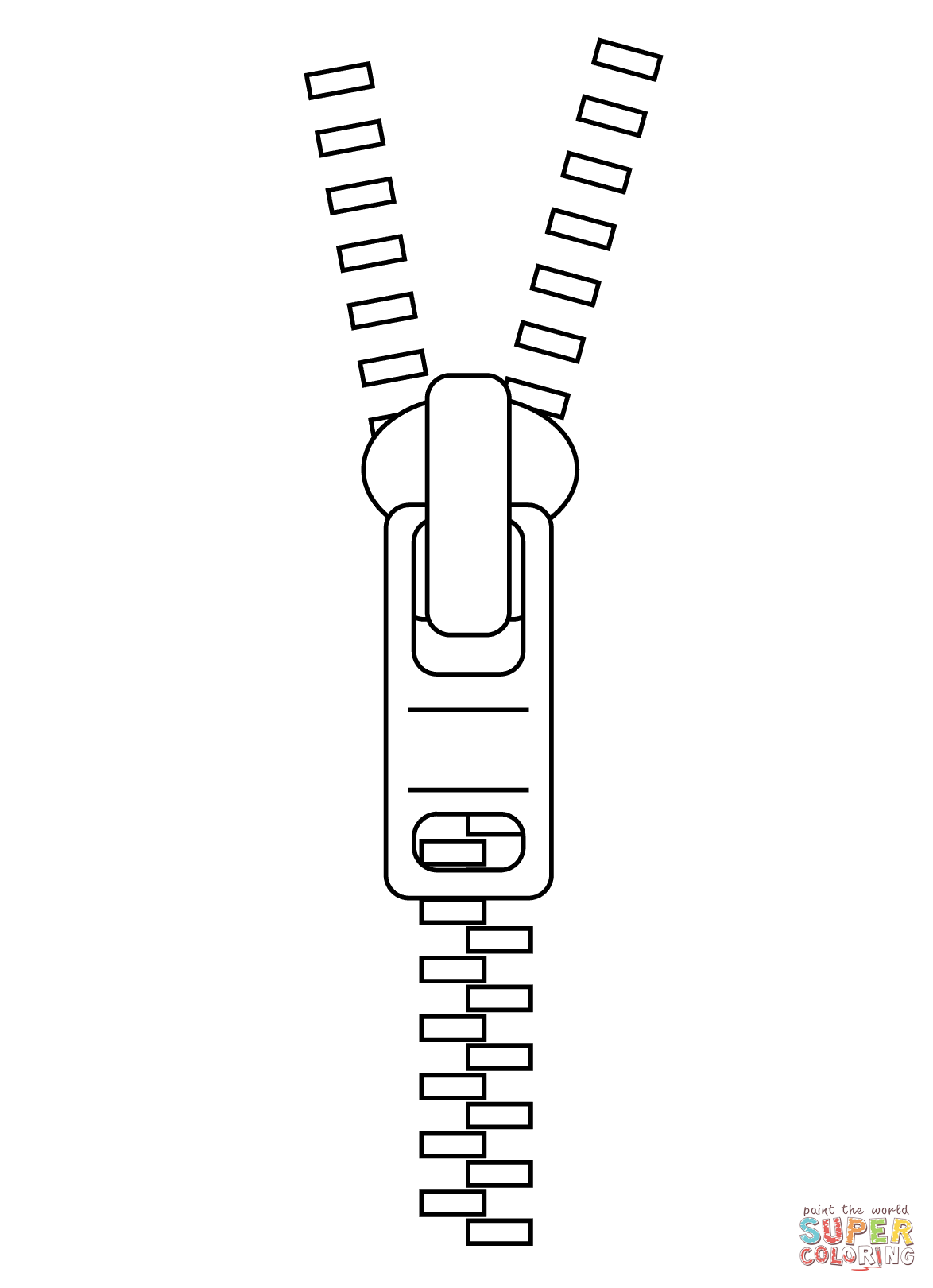 Click the zipper coloring pages to view printable version or color it online compatible with ipad and android tablets