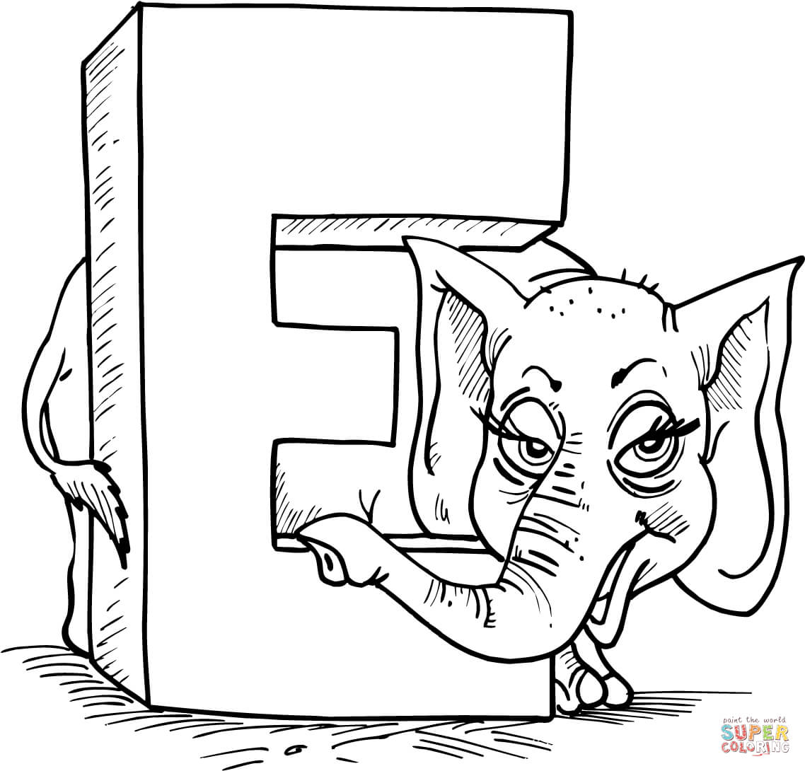 Letter e is for elephant