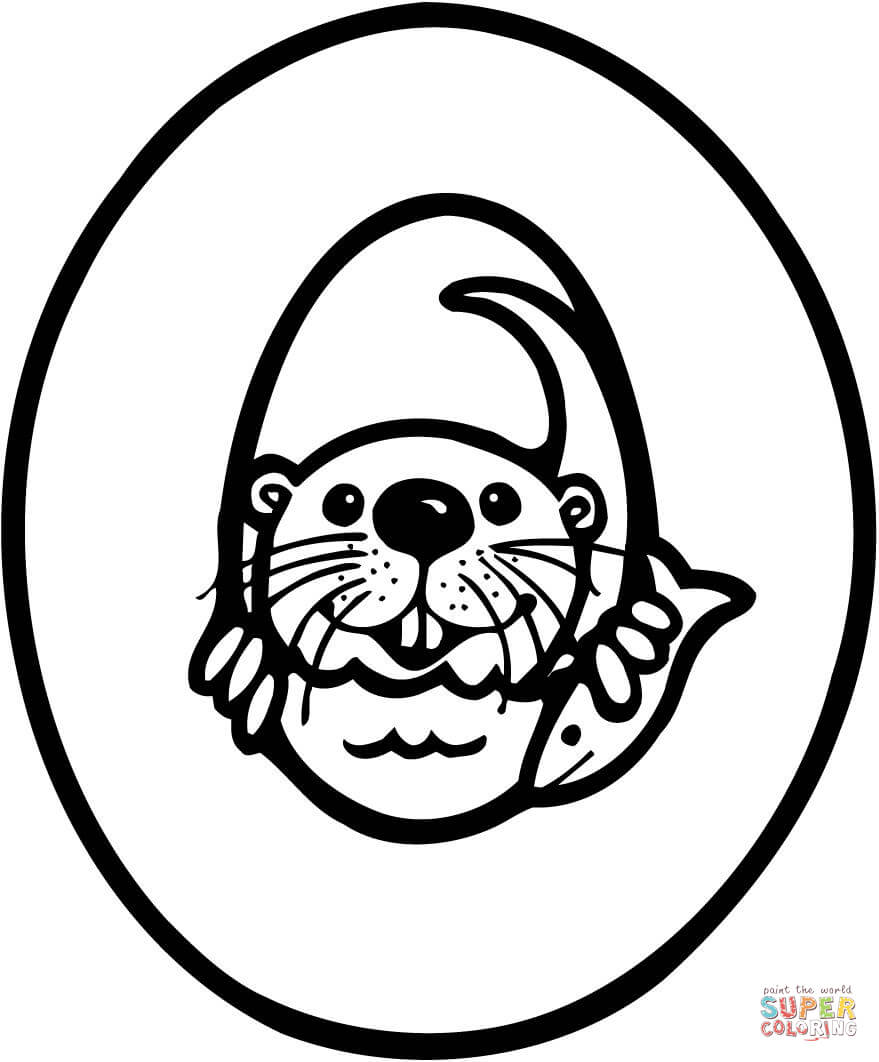 Letter o coloring pages - Letter O Coloring Pages Letter O Is For Otter Download