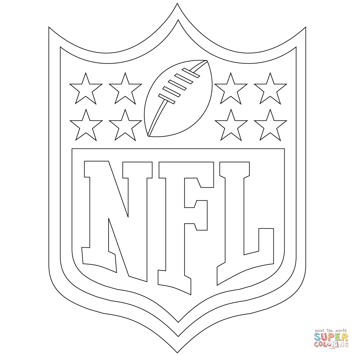 Click the nfl logo coloring pages to view printable