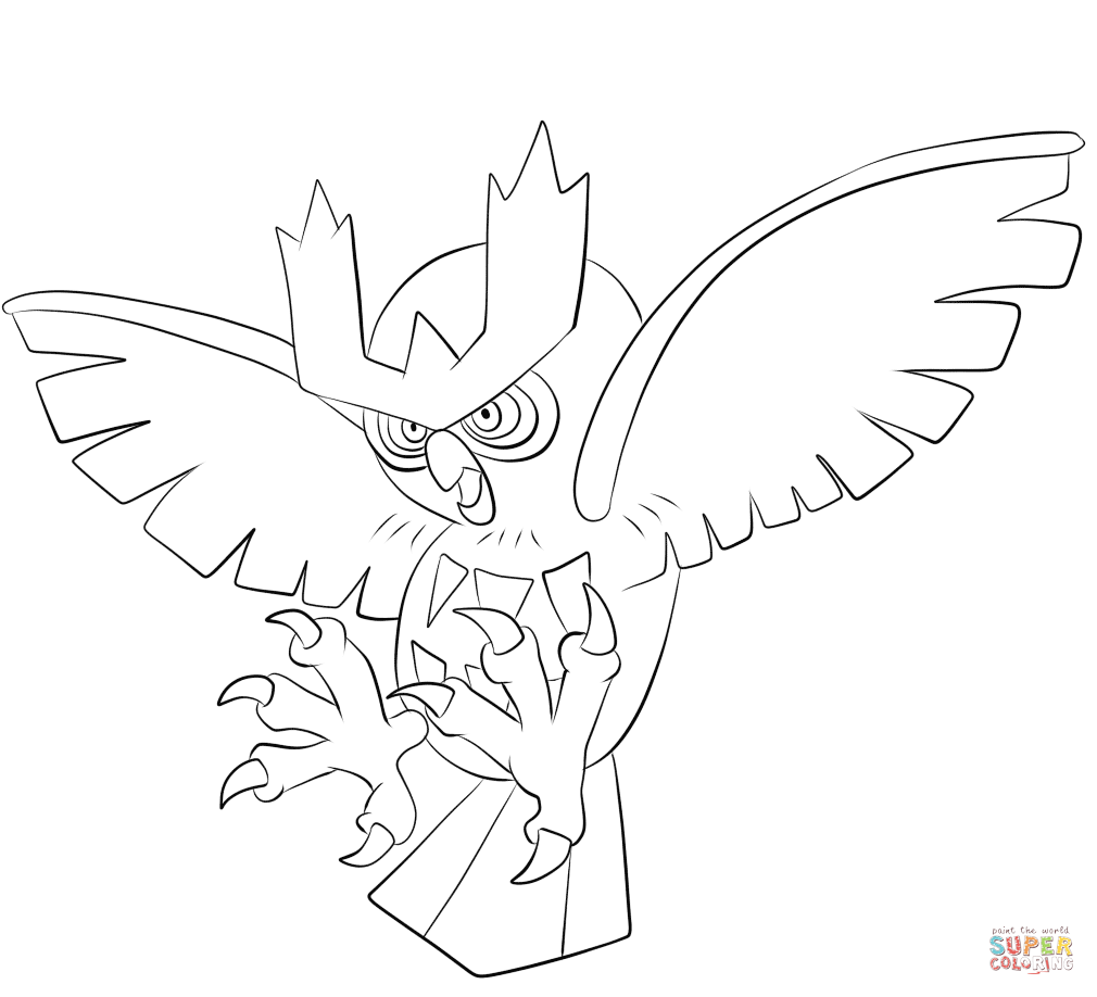 Click the noctowl coloring pages to view printable version or color it online compatible with ipad and android tablets