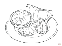 Citrus Fruits coloring page   Free Printable Coloring Pages
