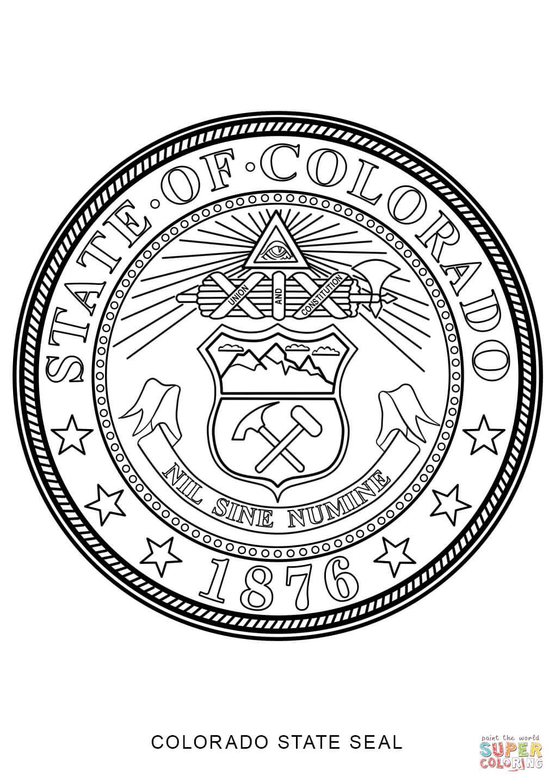 colorado state seal coloring page free printable saveenlarge