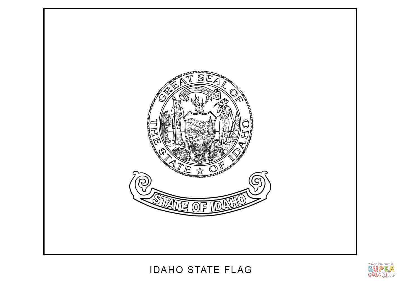Idaho State Flag Coloring Page - Eskayalitim