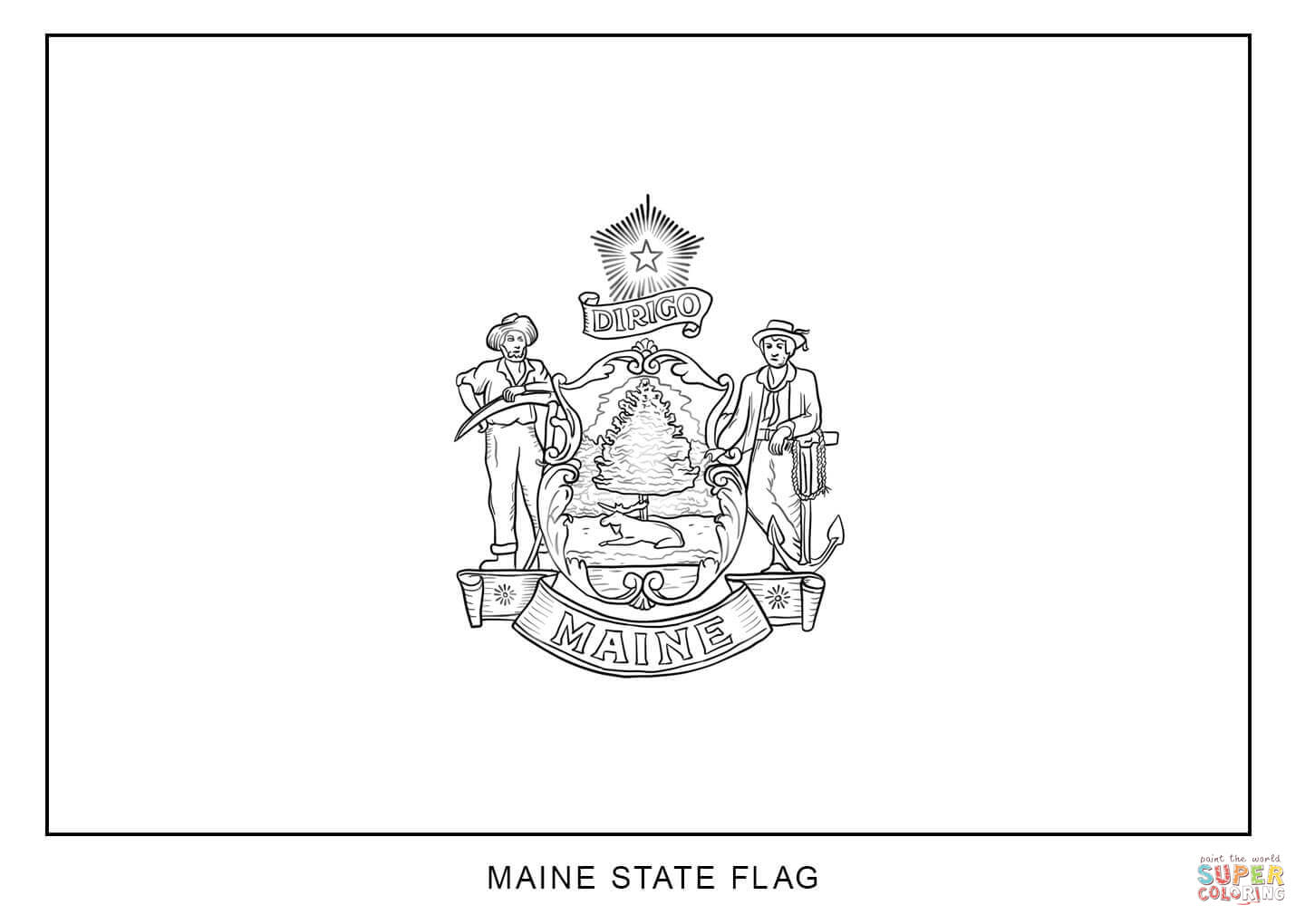 free coloring page canadian flag