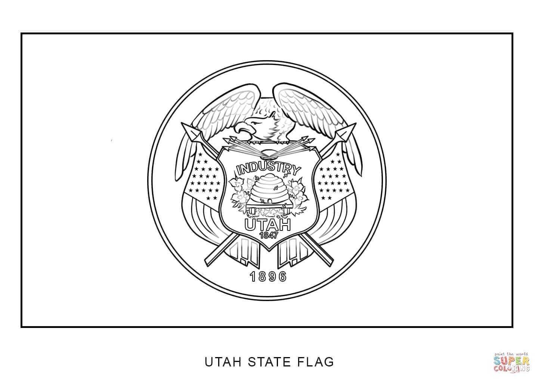 Utah State Flag Coloring Page - Democraciaejustica