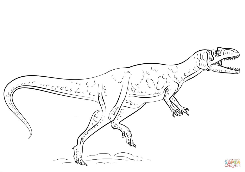 Allosaurus Coloring Page - Democraciaejustica