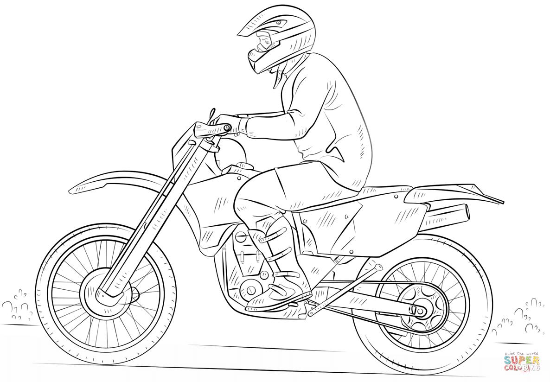 dirt bike Diagrama del motor