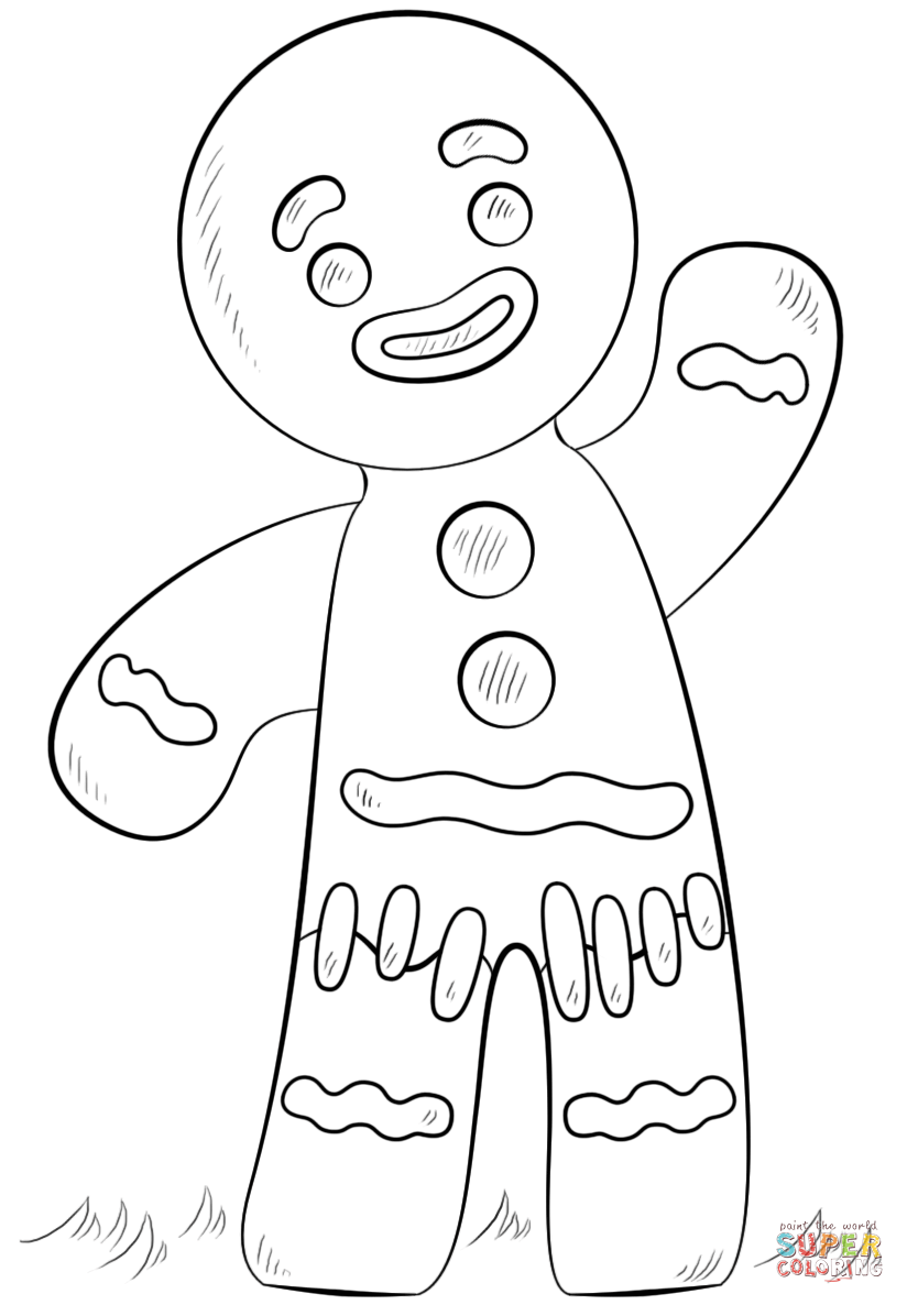Click the gingerbread man coloring pages to view printable