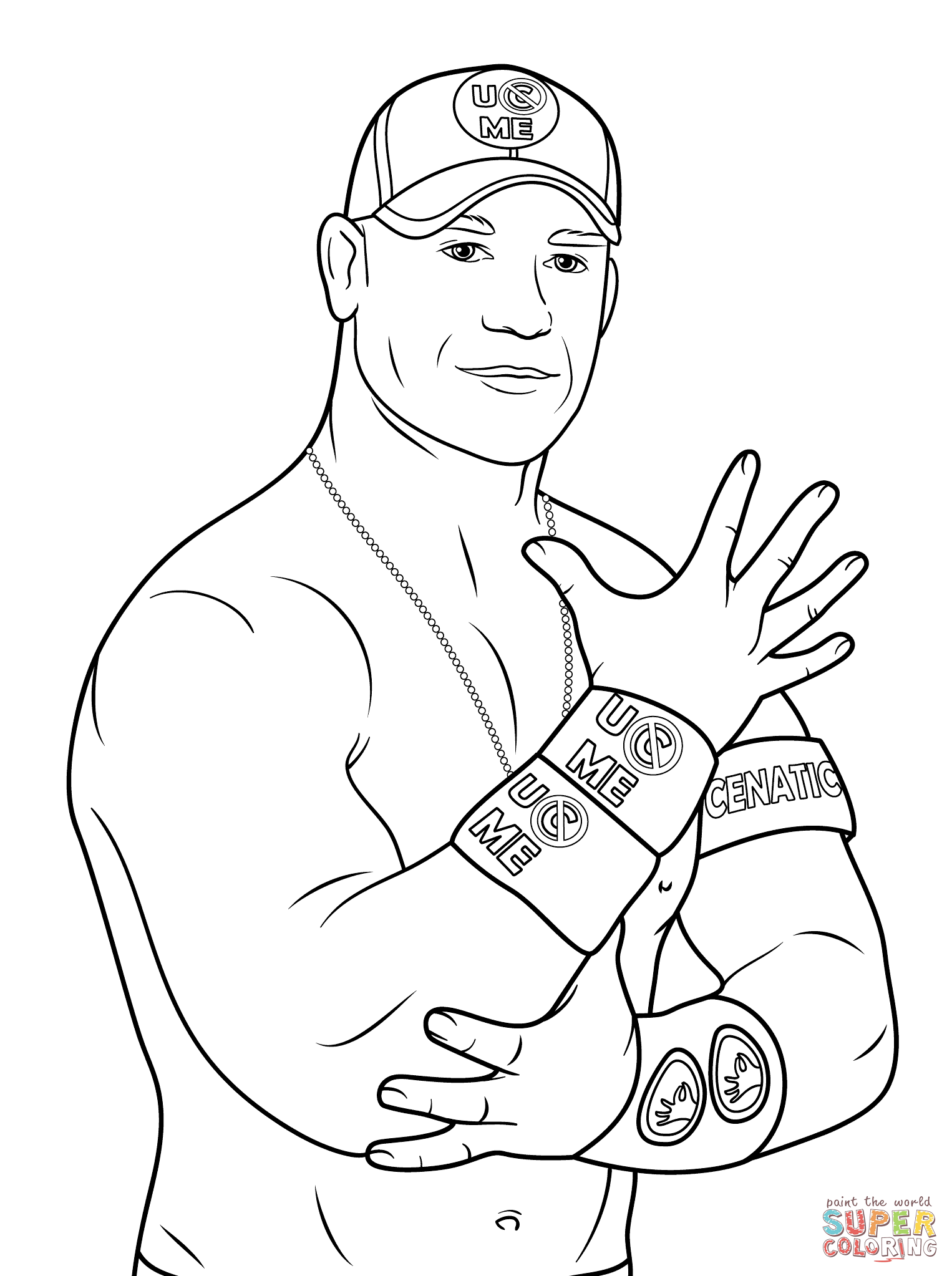 Click the john cena coloring pages