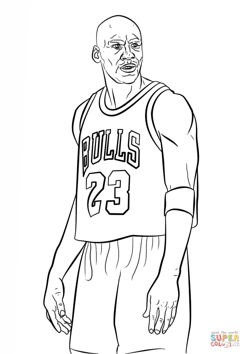 Click the michael jordan coloring pages