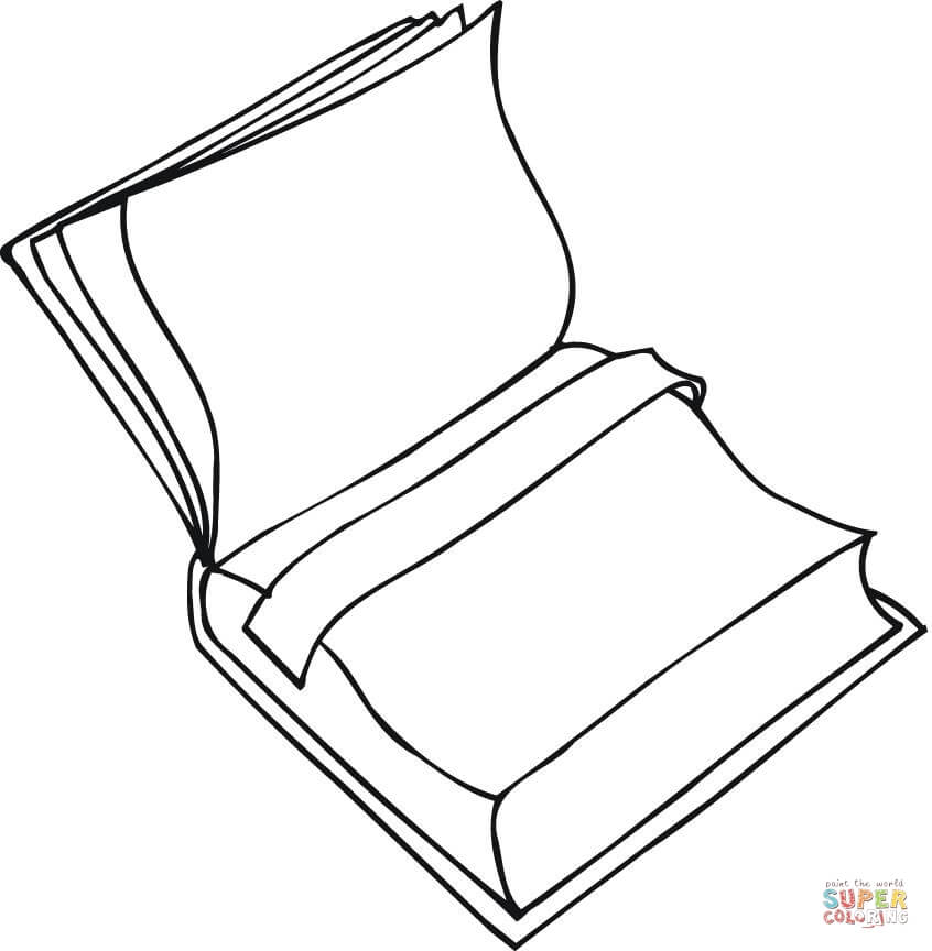 Open Book coloring page Free Printable Coloring Pages - open book coloring pages