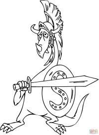 Disegno di Drago gladiatore da colorare | Disegni da ...