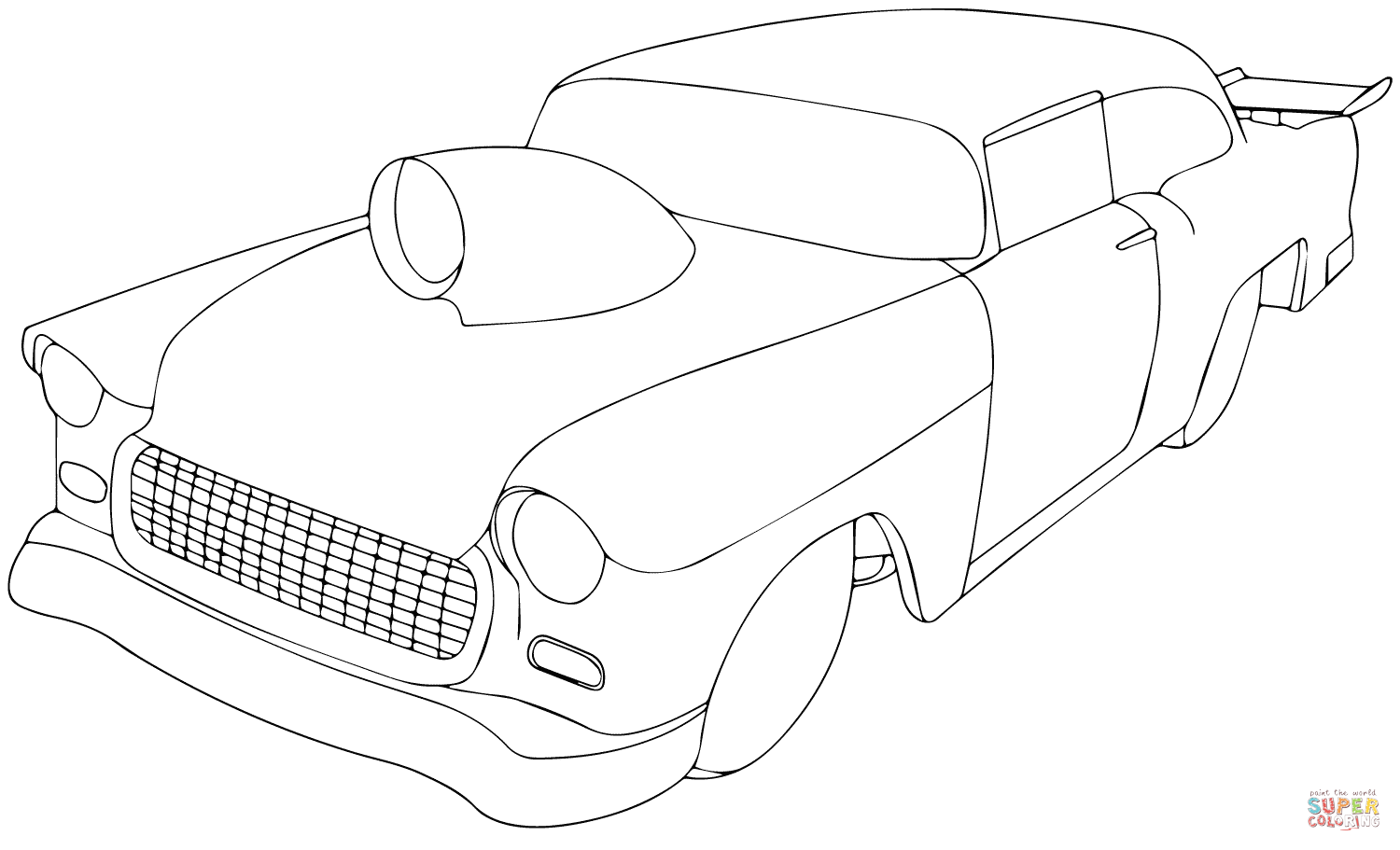 1955 chevy car coloring pages