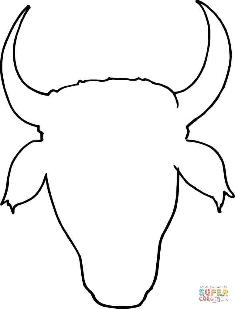 Cow Head Outline Coloring Page Free Printable Pages