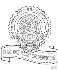 Dia De Los Muertos Sugar Skull coloring page | Free ...
