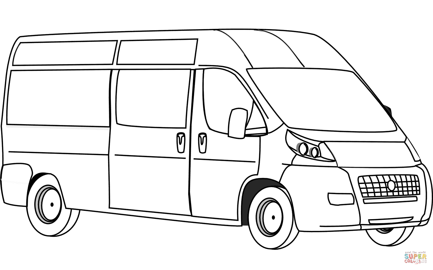 Click the van coloring pages to view printable version or color it online compatible with ipad and android tablets