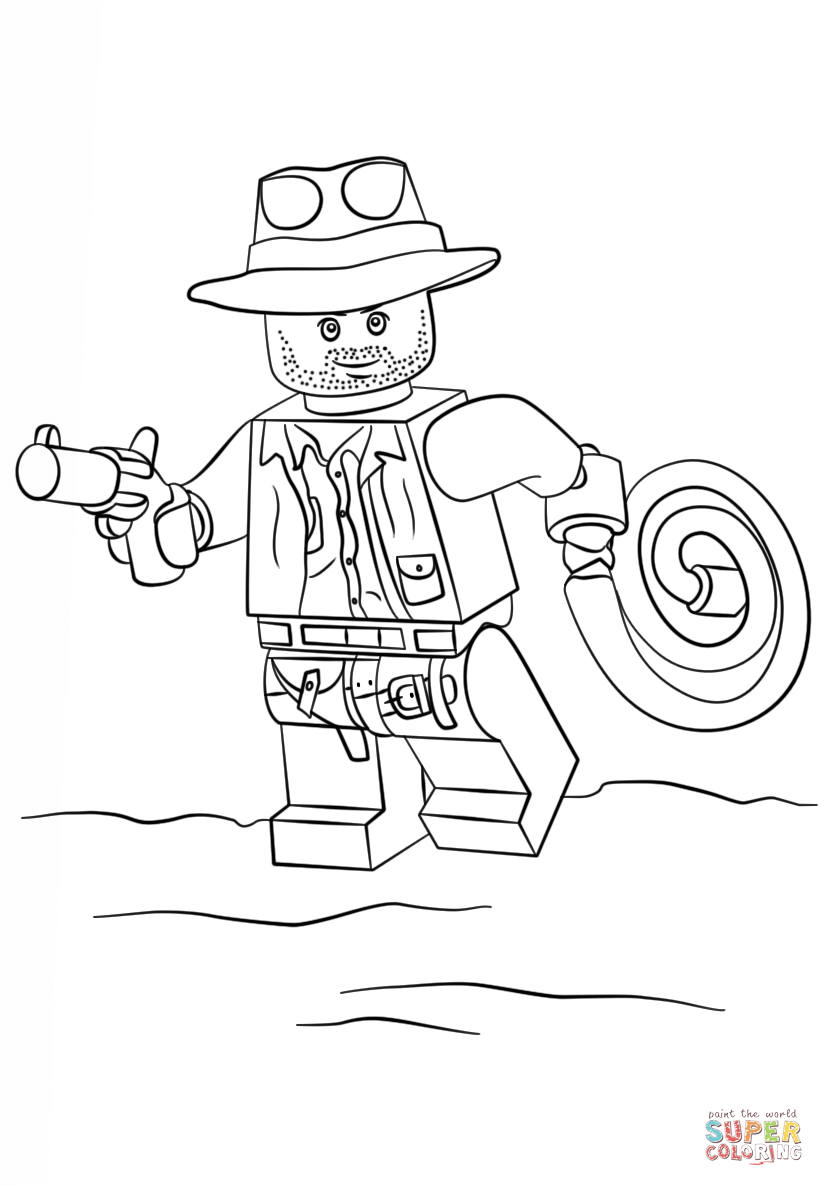 Click the lego indiana jones coloring pages