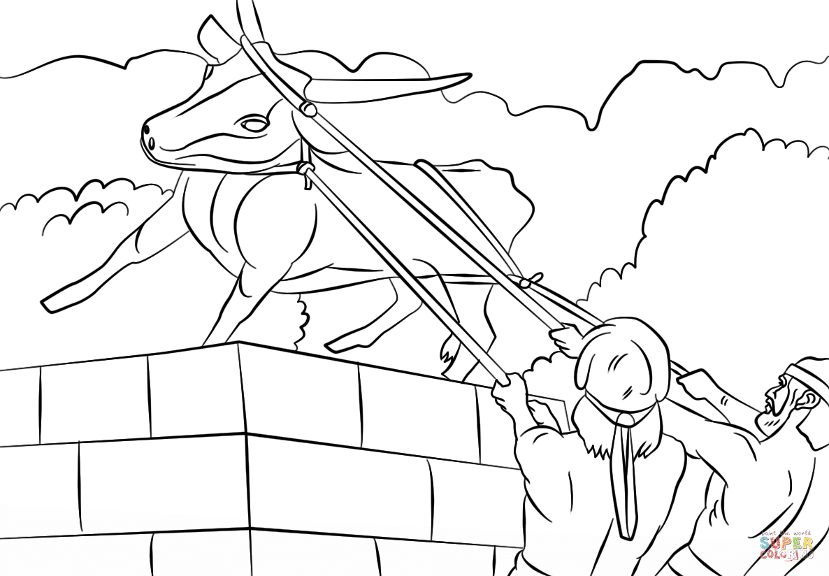 Click the josiah destroyed the golden calf coloring pages