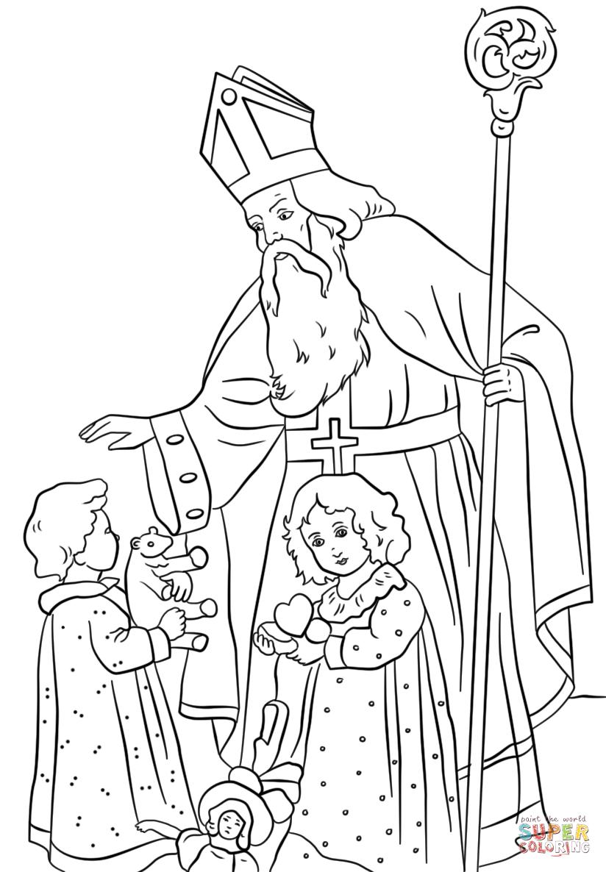 St Nicholas Coloring Page - Eskayalitim