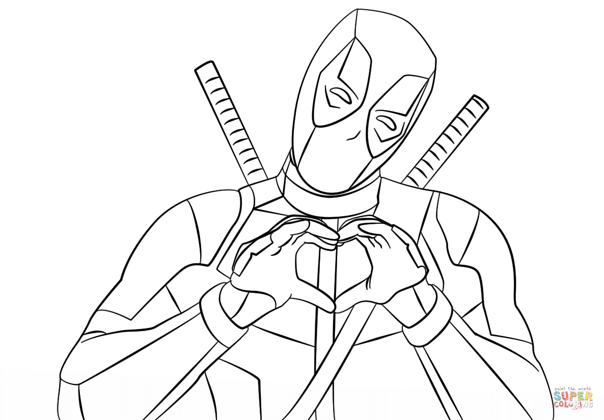 90 Deadpool Coloring Pages Online