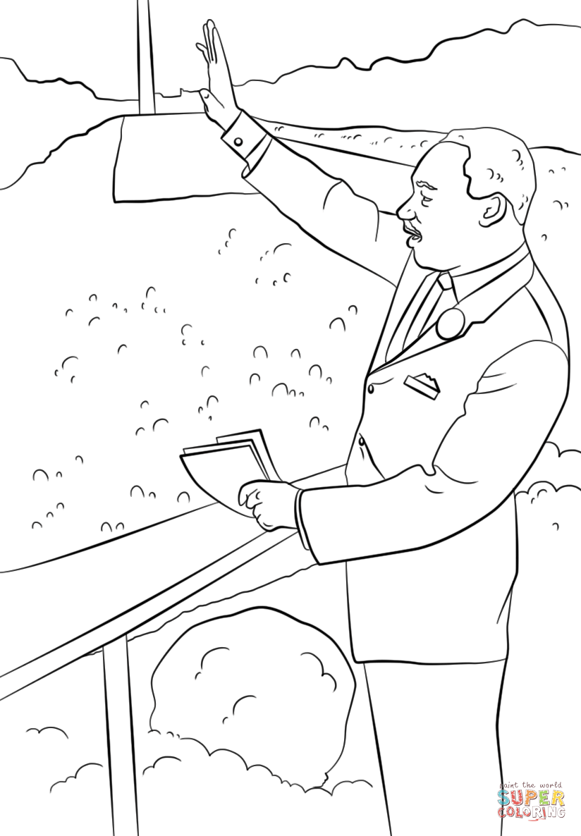 Click the martin luther king i have a dream coloring pages to view printable version or color it online compatible with ipad and android tablets