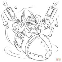 Skylanders Trigger Happy coloring page | Free Printable ...