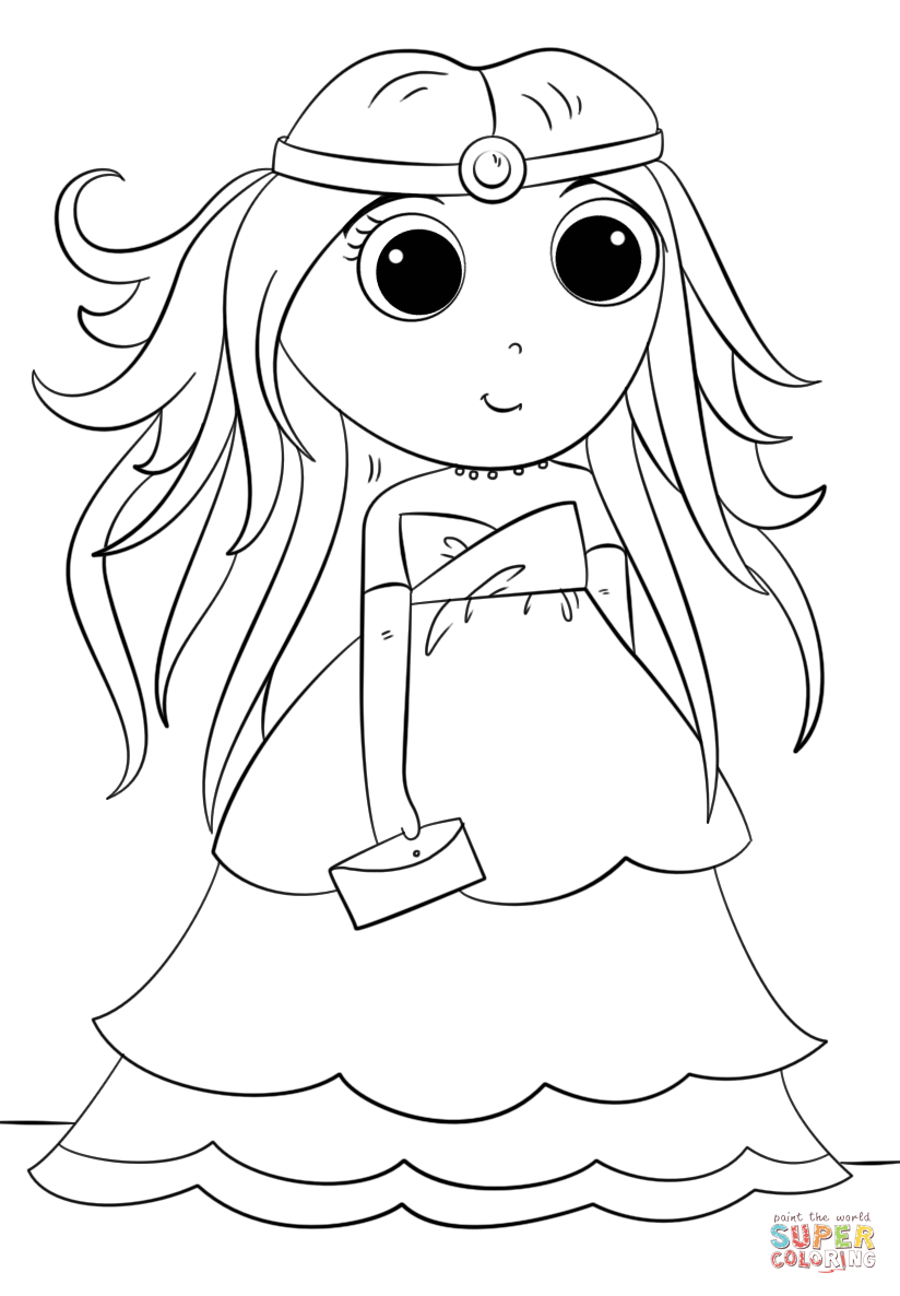 Click the anime princess coloring pages to view printable version or color it online compatible with ipad and android tablets