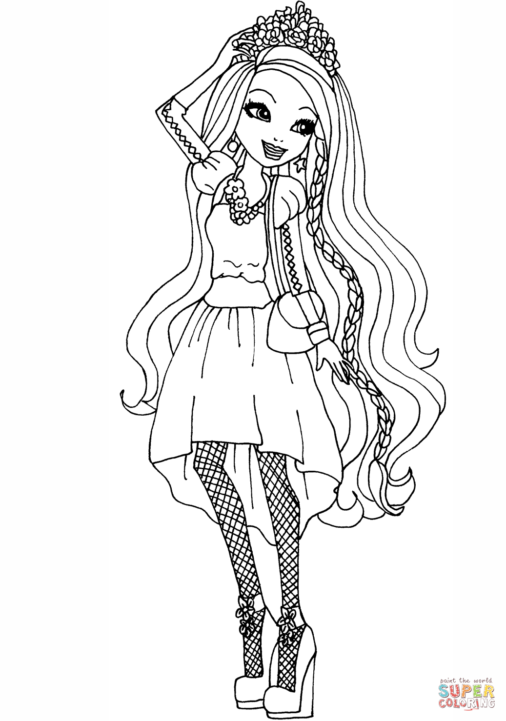 hair coloring pages download