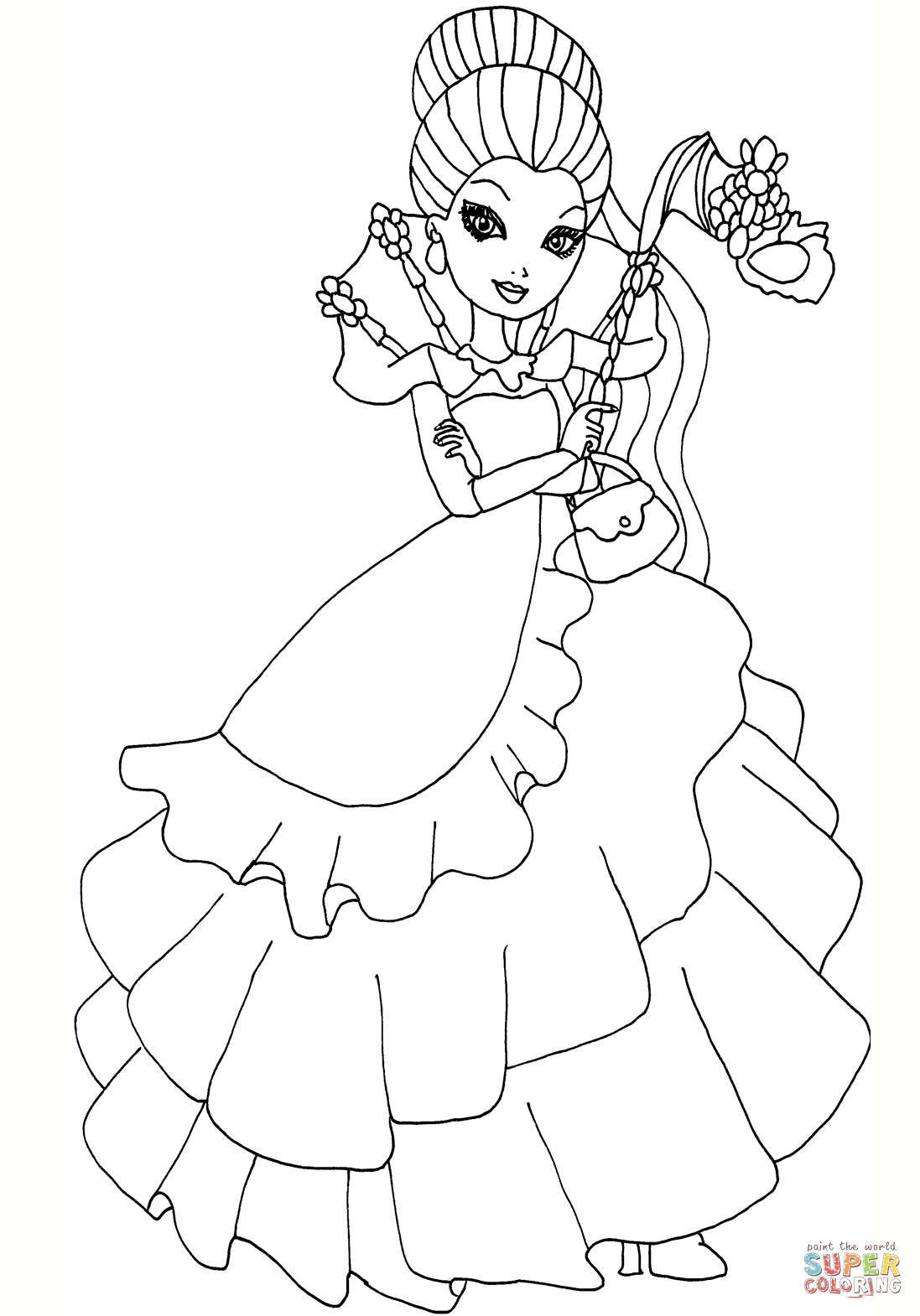 Coloring pages queen elizabeth 1 - Download Queen Coloring Pages