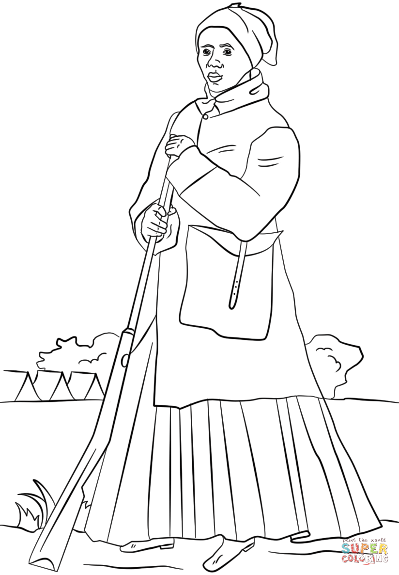 Click the harriet tubman coloring pages to view printable version or color it online compatible with ipad and android tablets