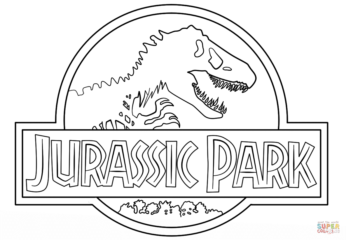 Click the jurassic park logo coloring pages to view printable version or color it online compatible with ipad and android tablets