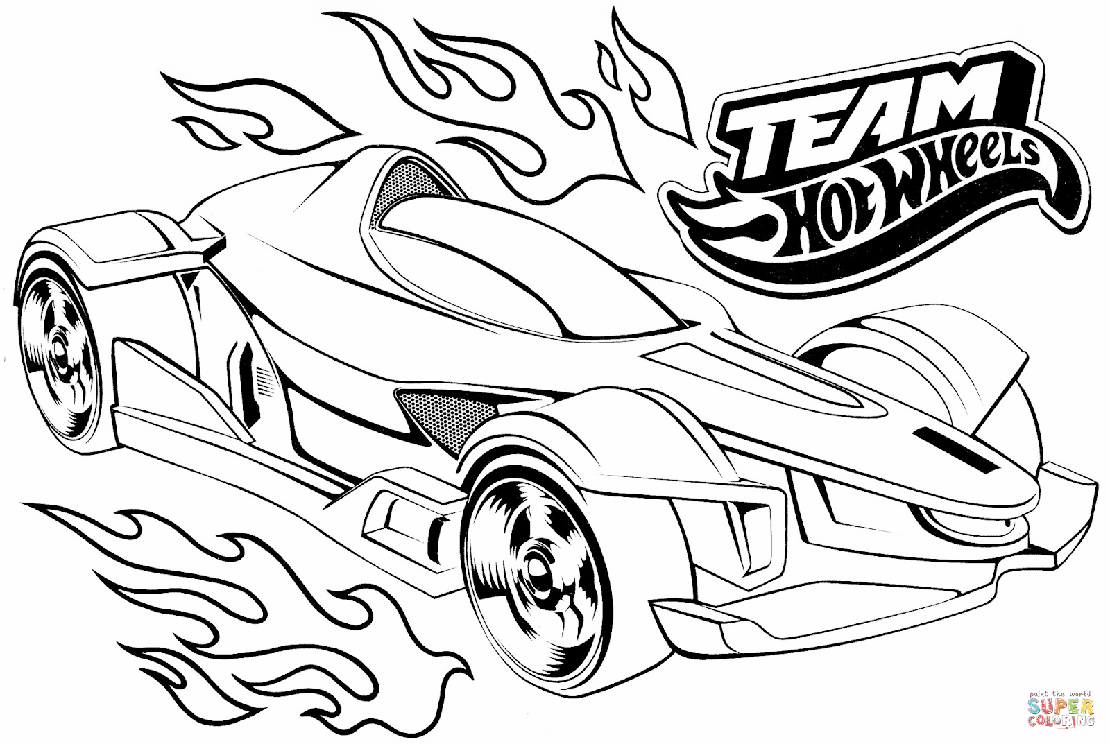 Click the team hot wheels coloring pages to view printable version or color it online compatible with ipad and android tablets