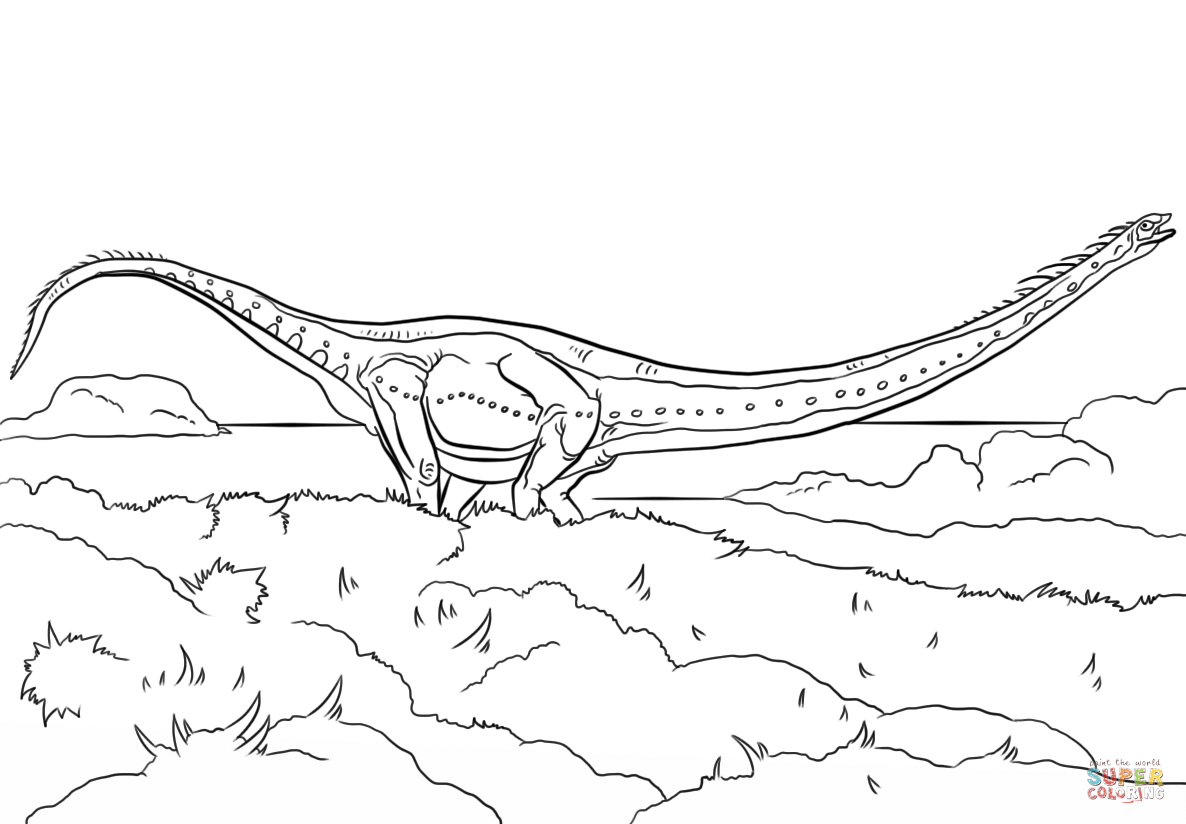 Jurassic Park Mamenchisaurus Coloring Pages Download