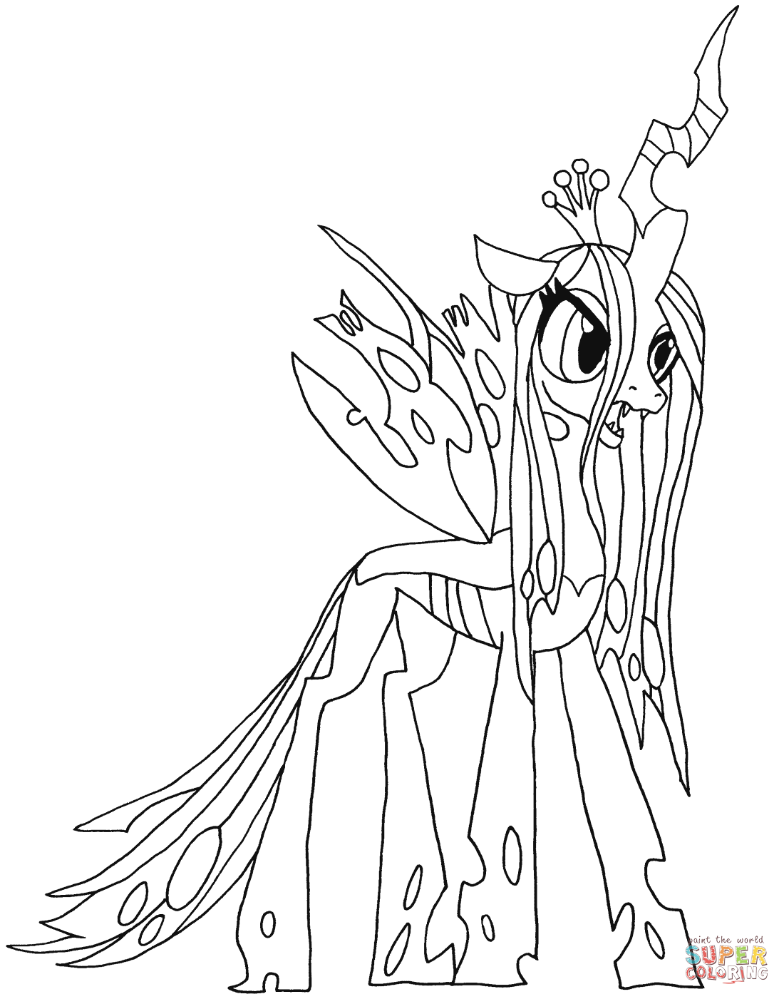 Queen Chrysalis Coloring Pages To View Download