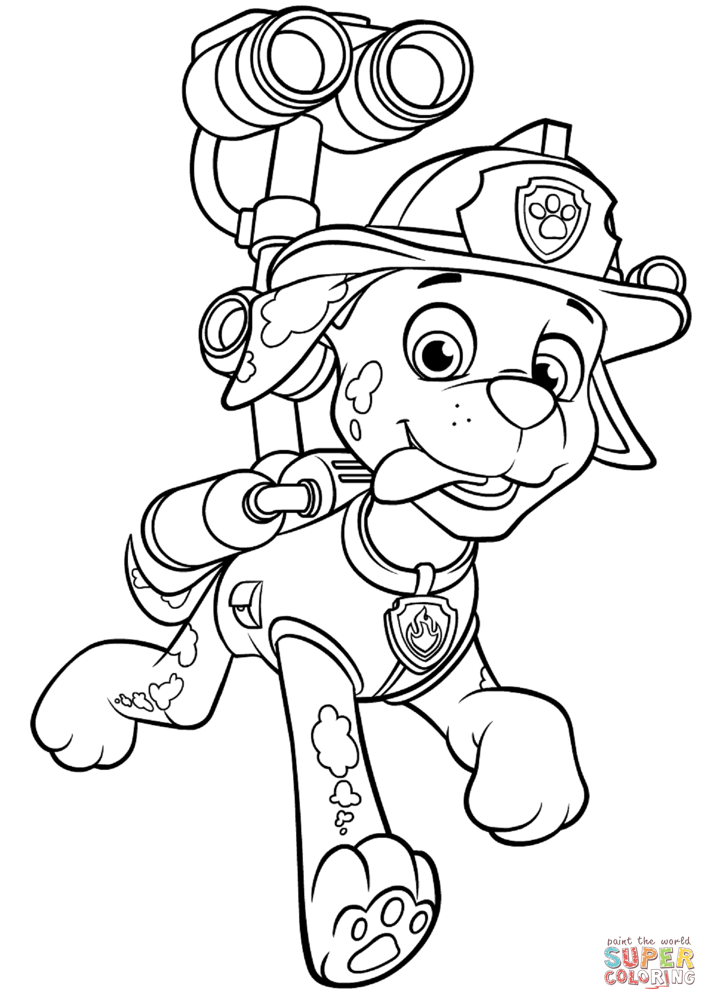 Ausmalbilder Marshall Paw Patrol : Beautiful Paw Patrol Coloring Pages Marshall Coloringfun