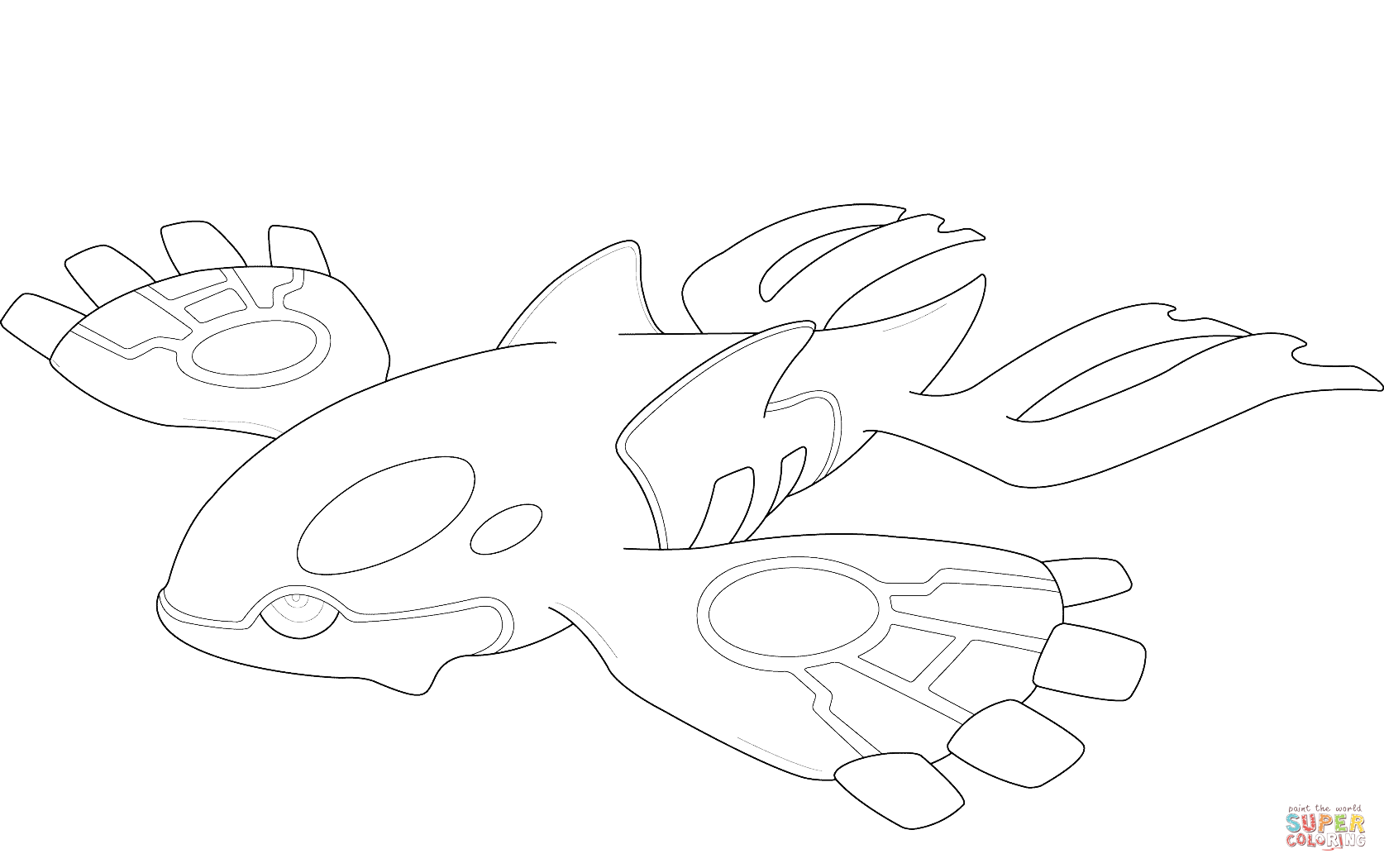 Click the kyogre pokemon coloring pages to view printable version or color it online compatible with ipad and android tablets